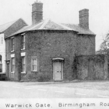 Warwick.  Birmingham Road, Warwick Gate Tollhouse