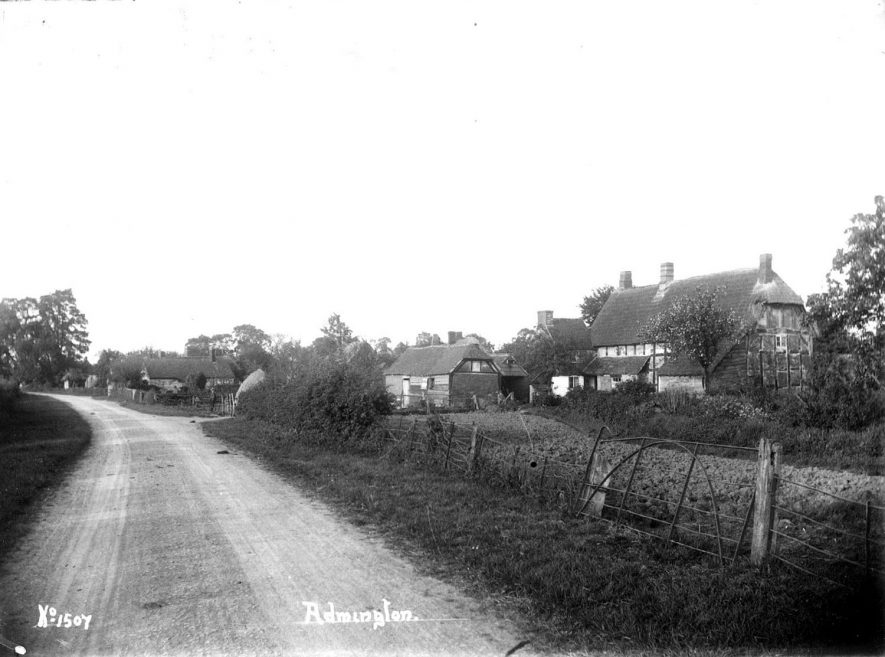 View of the road through Admington village.  1900s |  IMAGE LOCATION: (Warwickshire County Record Office)