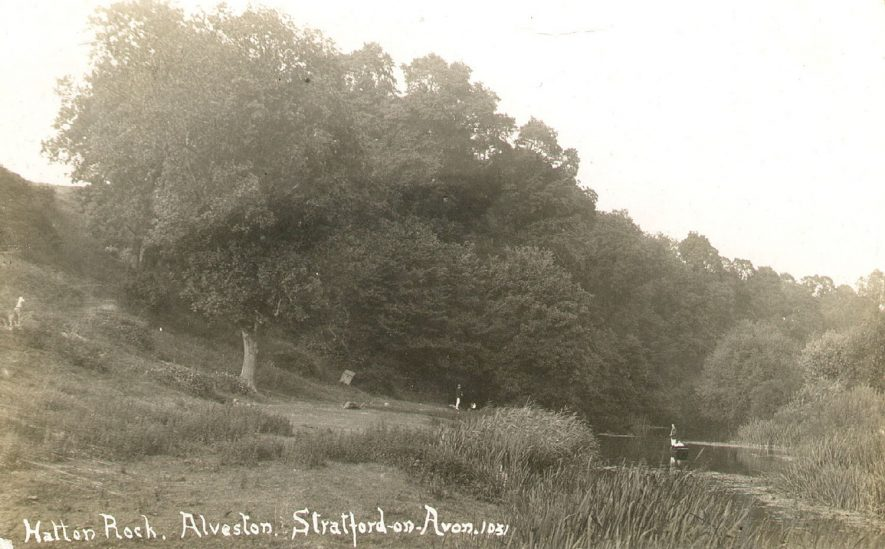 Hatton Rock, Alveston.  1910s |  IMAGE LOCATION: (Warwickshire County Record Office)