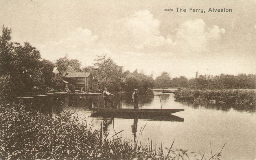 The Ferry at Alveston.  1920s |  IMAGE LOCATION: (Warwickshire County Record Office)