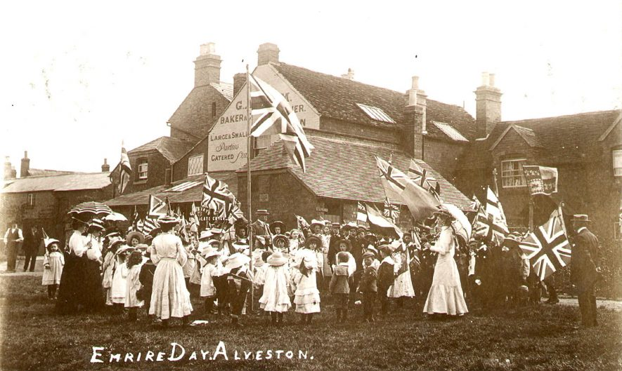 Empire Day celebrations at Alveston.  1900s |  IMAGE LOCATION: (Warwickshire County Record Office)