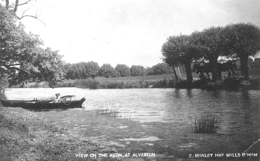 The River Avon at Alveston.  1910s |  IMAGE LOCATION: (Warwickshire County Record Office)