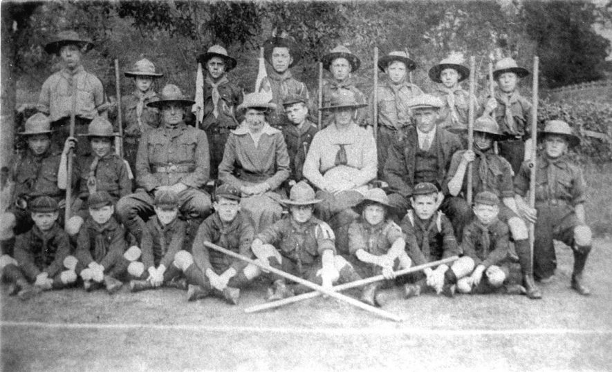 A group of Boy Scouts, Ashorne.  1920s |  IMAGE LOCATION: (Warwickshire County Record Office)