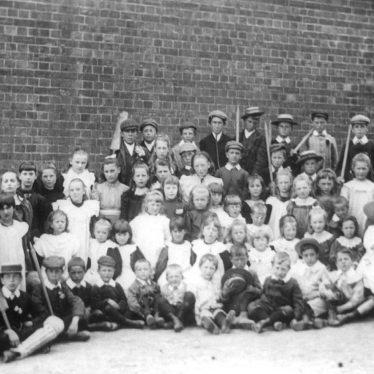 Ashorne.  A group of school children
