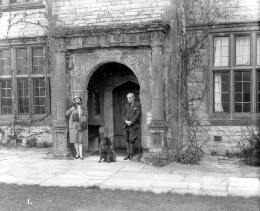 The front entrance of Billesley Hall.  1920s |  IMAGE LOCATION: (Warwickshire County Record Office)