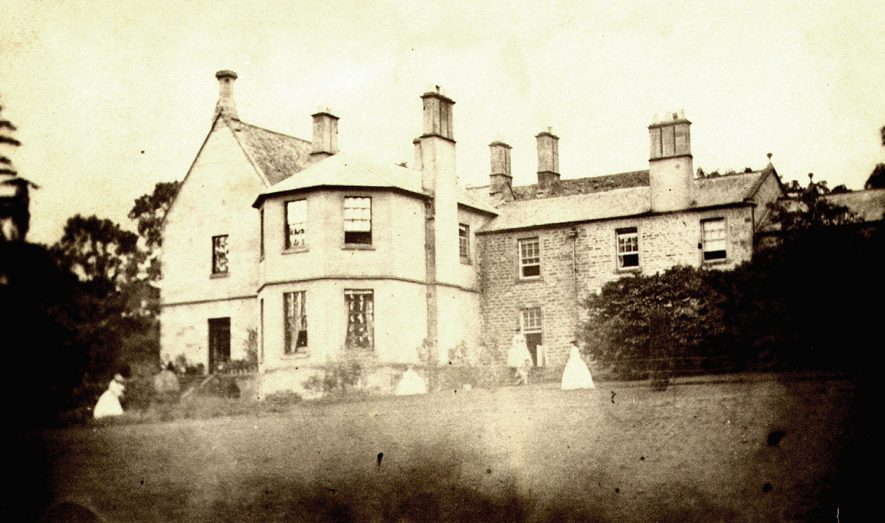 Exterior view of Cherington House in the 1880/90s. |  IMAGE LOCATION: (Warwickshire County Record Office)
