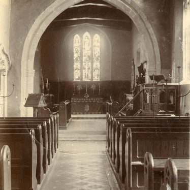 Cherington.  Interior of St John the Baptist Church