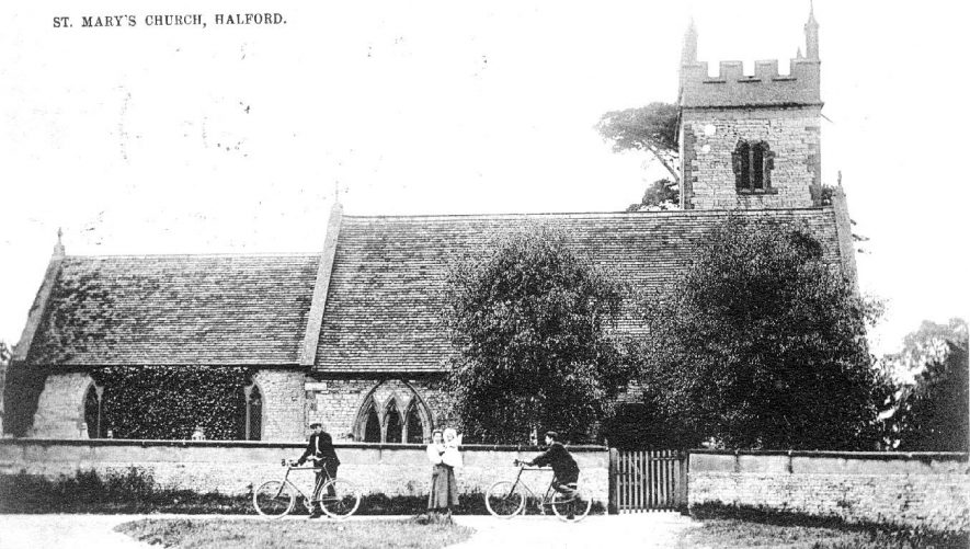 St Mary's Church, Halford.  1907 |  IMAGE LOCATION: (Warwickshire County Record Office)