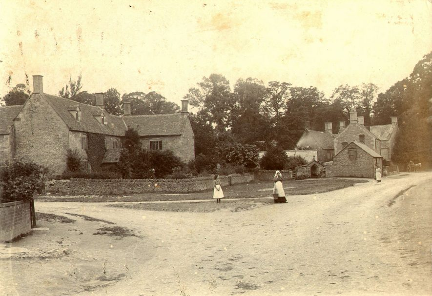 A view of Cherington village in 1895. |  IMAGE LOCATION: (Warwickshire County Record Office)
