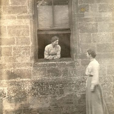Cherington.  Two women chatting