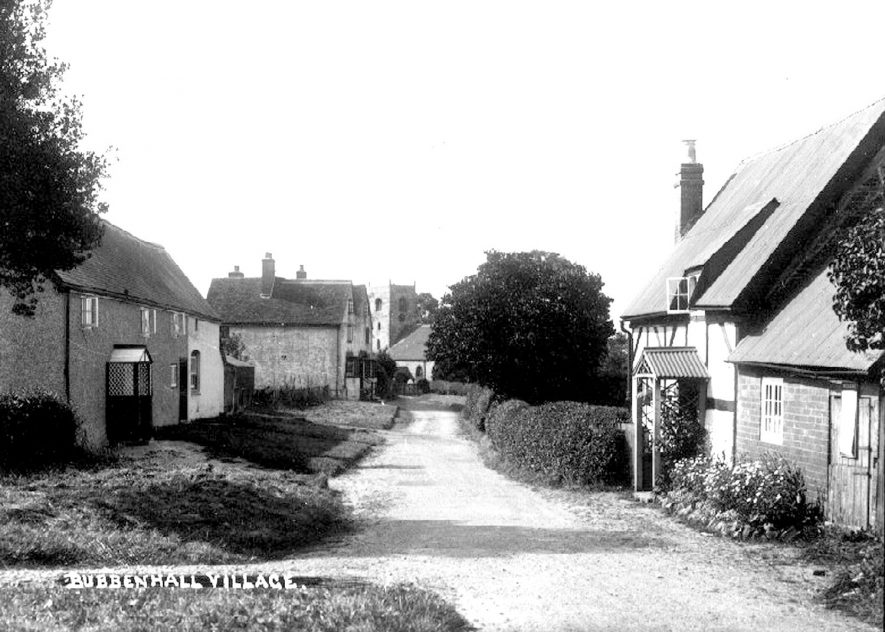 A view of Bubbenhall village in the 1930s. |  IMAGE LOCATION: (Warwickshire County Record Office)