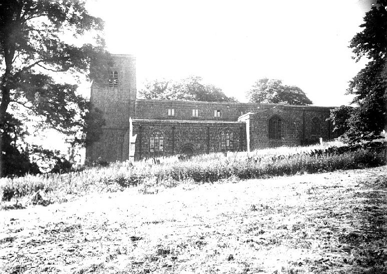 All Saints Church, Burton Dassett.  1900s |  IMAGE LOCATION: (Warwickshire County Record Office)