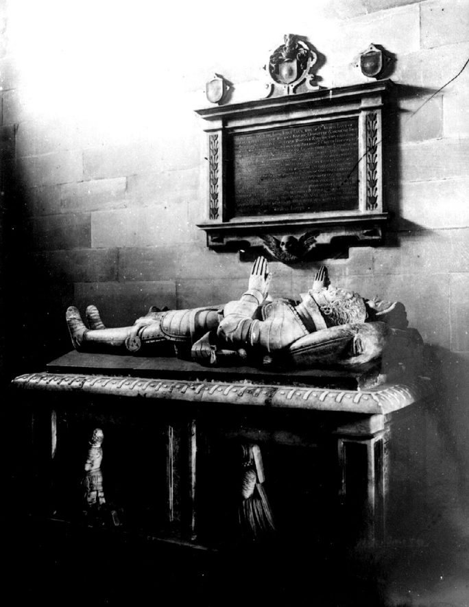 Tomb of Sir Thomas Lucy in St Leonard's Church, Charlecote.  1900s |  IMAGE LOCATION: (Warwickshire County Record Office)