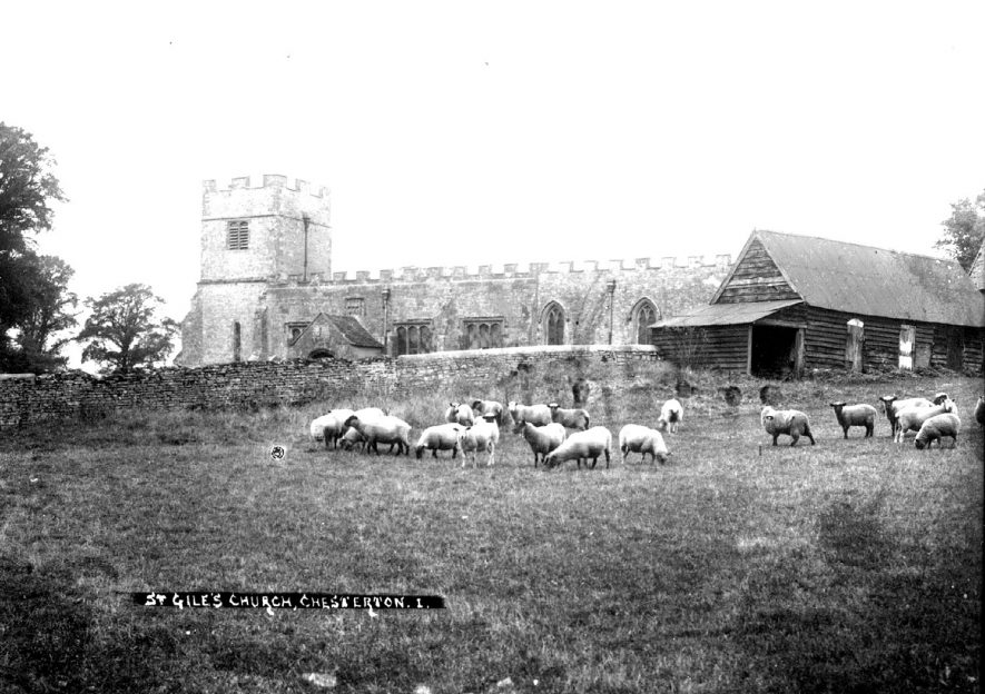 St Giles' Church, Chesterton.  1900s |  IMAGE LOCATION: (Warwickshire County Record Office)