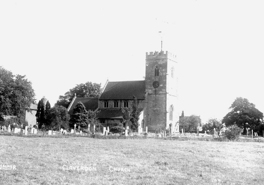 St Michael's Church, Claverdon.  1900s |  IMAGE LOCATION: (Warwickshire County Record Office)