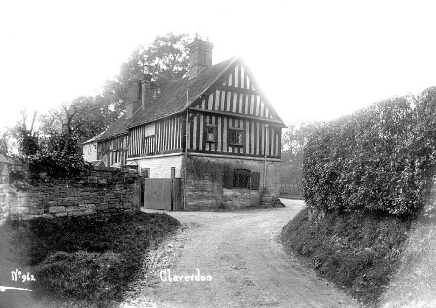 A timber framed house in Claverdon.  1900s |  IMAGE LOCATION: (Warwickshire County Record Office)