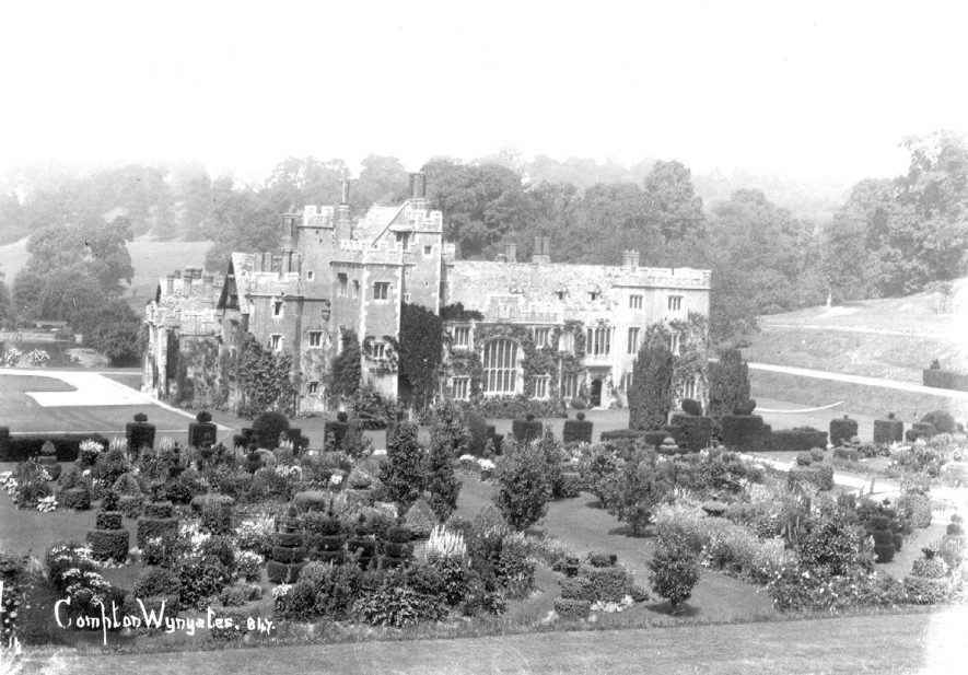 View of Compton Wynyates.  1910s |  IMAGE LOCATION: (Warwickshire County Record Office)