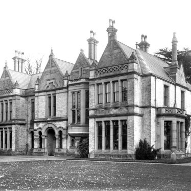 Ettington.  Large Victorian house