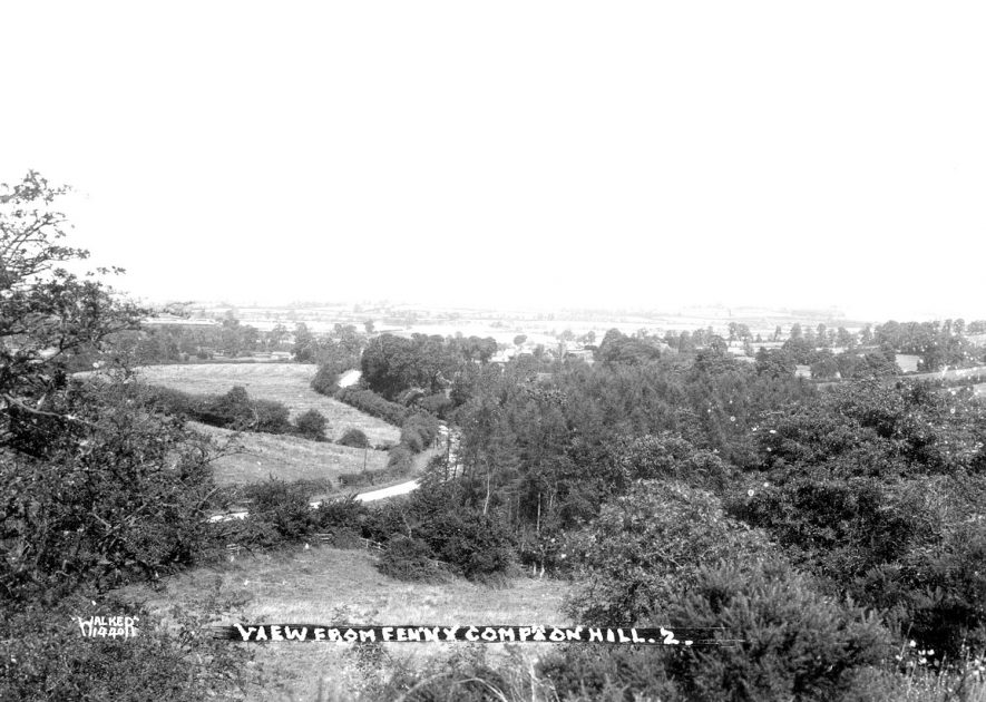 View from Fenny Compton Hill.  1910s |  IMAGE LOCATION: (Warwickshire County Record Office)