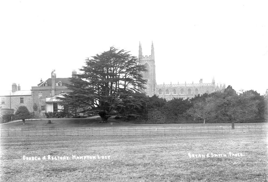 Hampton Lucy church and rectory.  1900s |  IMAGE LOCATION: (Warwickshire County Record Office)
