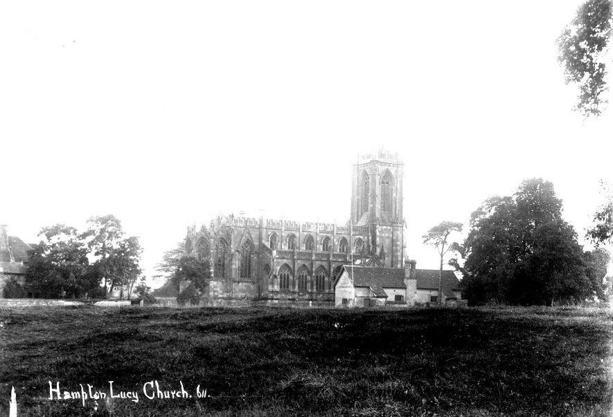 St Peter's Church, Hampton Lucy.  1900s |  IMAGE LOCATION: (Warwickshire County Record Office)