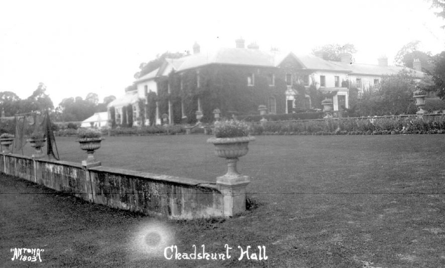 Chadshunt Hall and gardens.  1920s |  IMAGE LOCATION: (Warwickshire County Record Office)