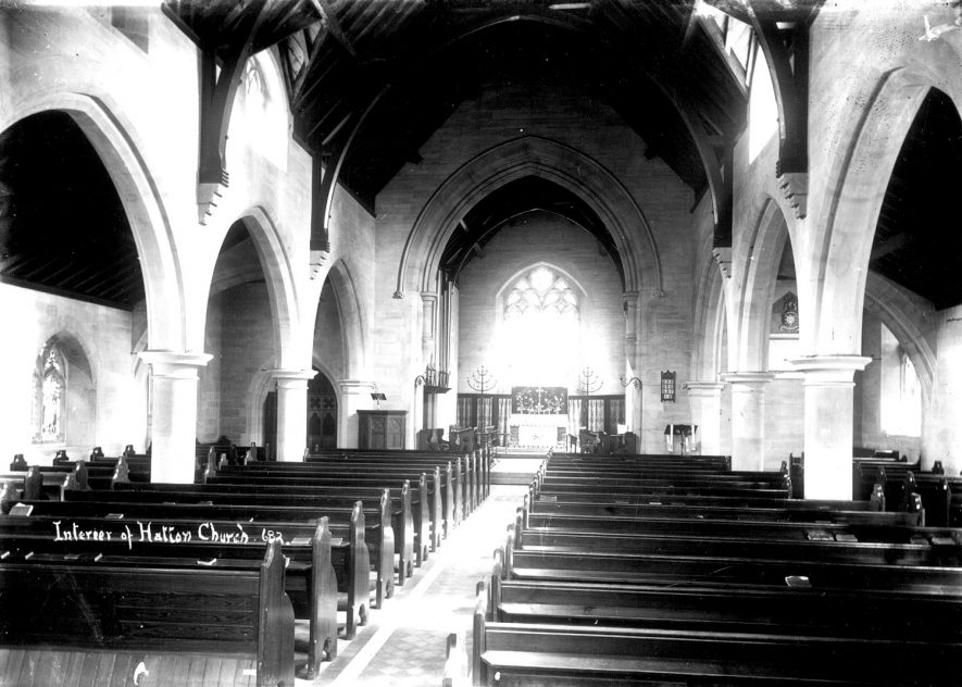 Hatton Church interior.  1910s |  IMAGE LOCATION: (Warwickshire County Record Office)
