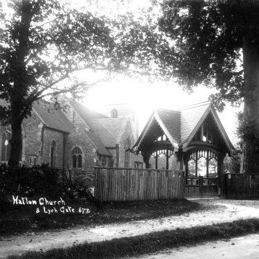 Hatton.  Church and lych gate