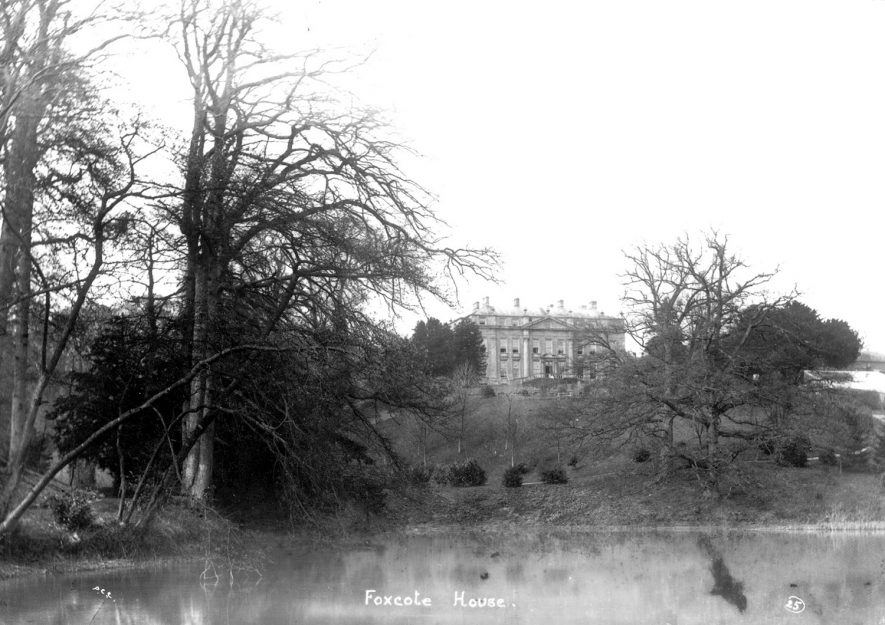 Foxcote House as seen across the lake.  1900s |  IMAGE LOCATION: (Warwickshire County Record Office)