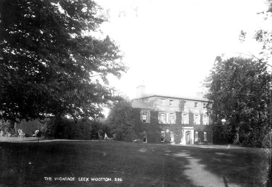 The vicarage and gardens at Leek Wootton.  1900s |  IMAGE LOCATION: (Warwickshire County Record Office)