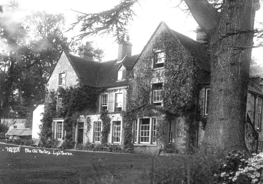 Exterior of the Old Rectory, Lighthorne.  1930s |  IMAGE LOCATION: (Warwickshire County Record Office)