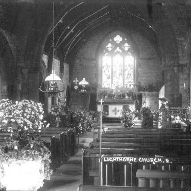 Lighthorne.  St Lawrence's Church, interior