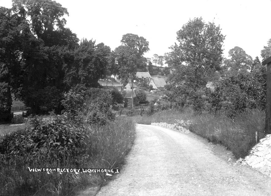 View of Lighthorne from the vicarage.  1930s |  IMAGE LOCATION: (Warwickshire County Record Office)