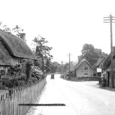 Long Compton.  Village street and grocery shop