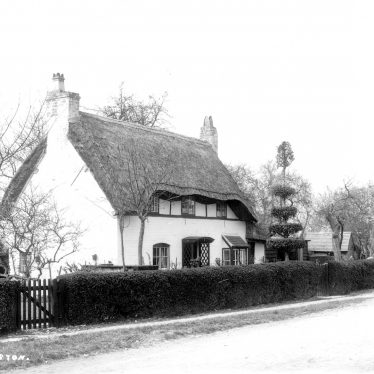 Long Marston.  Thatched cottage