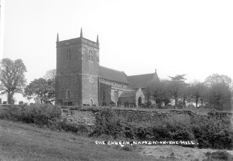 St Lawrence Church, Napton on the Hill.  1900s |  IMAGE LOCATION: (Warwickshire County Record Office)