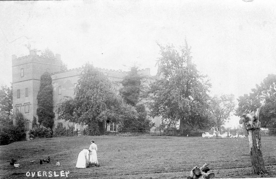 Oversley Castle, near Alcester.  1900s |  IMAGE LOCATION: (Warwickshire County Record Office)