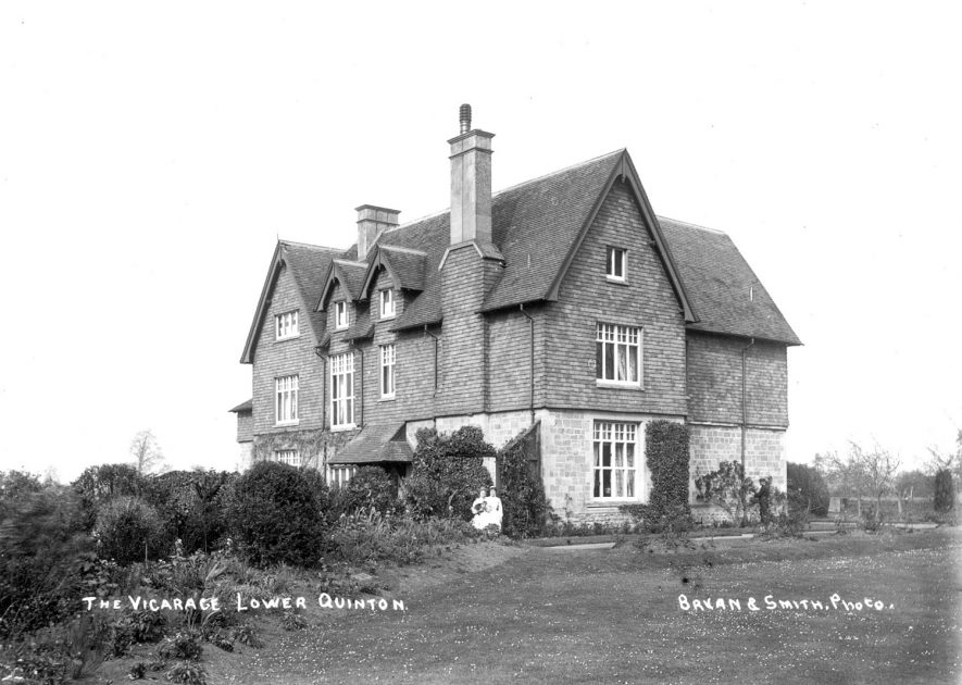 The vicarage, Lower Quinton.  1910s |  IMAGE LOCATION: (Warwickshire County Record Office)