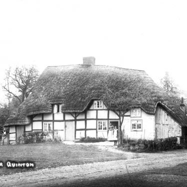 Quinton, Upper.  Thatched cottage