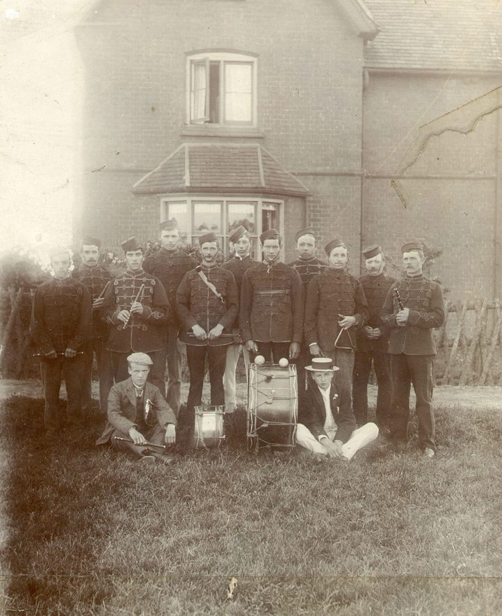 Group of bandsmen from Cubbington.  1890s |  IMAGE LOCATION: (Warwickshire County Record Office)