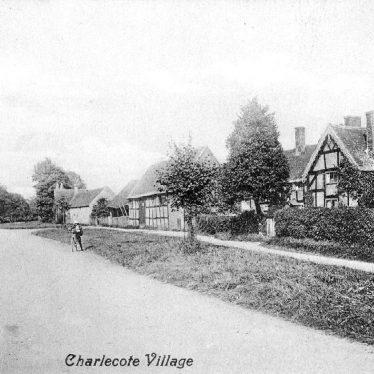 Charlecote.  Village street