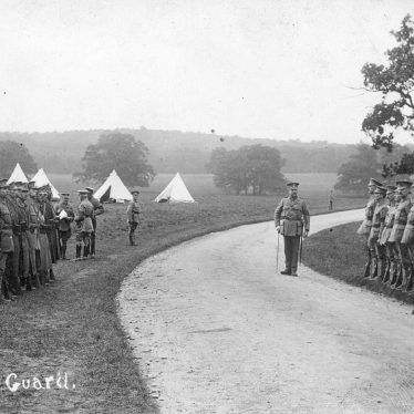 Ragley Park.  Soldiers changing guard