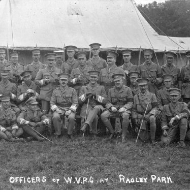 Ragley Park. Officers of W.V.R.C