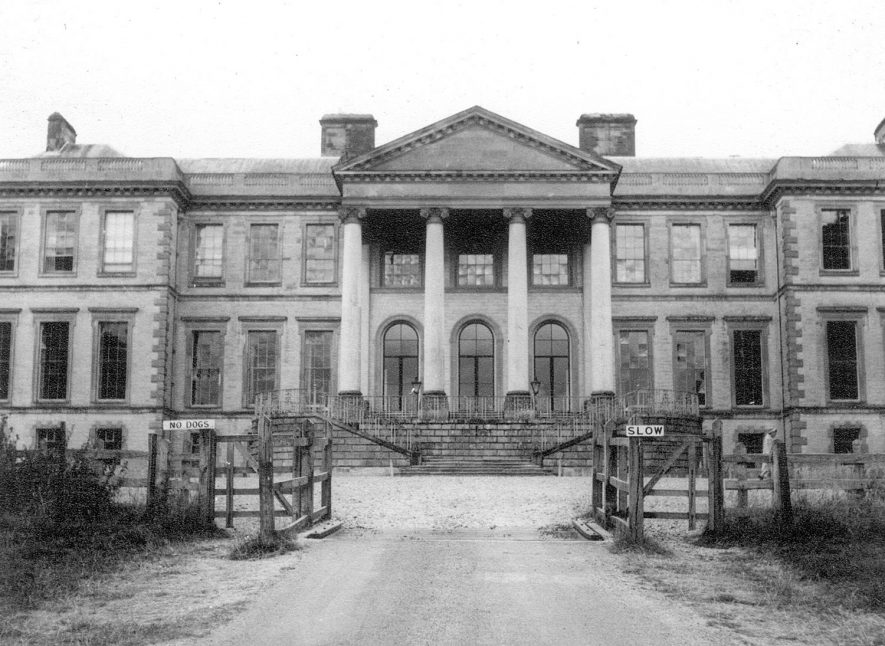 East front of Ragley Hall from the drive.  1950s |  IMAGE LOCATION: (Warwickshire County Record Office)