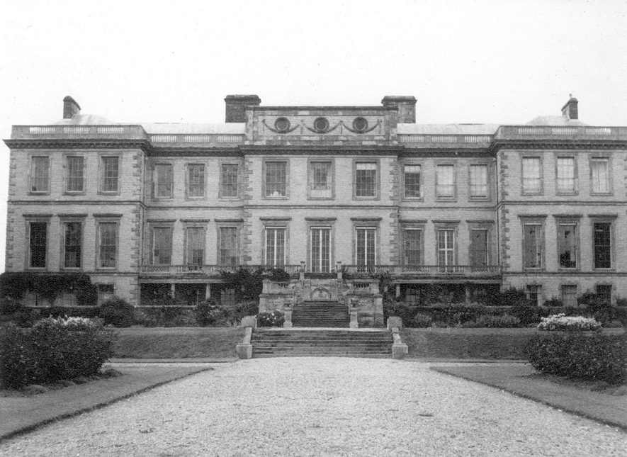 West front of Ragley Hall from the garden.  1950s |  IMAGE LOCATION: (Warwickshire County Record Office)