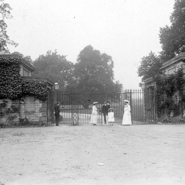 Ragley Hall.  Lodge and gates
