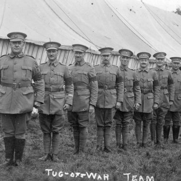 Ragley Park.  Servicemen's Tug of War Team