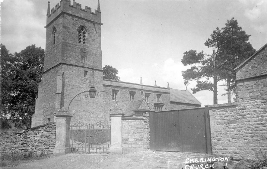 Church of St John the Baptist, Cherington.  1920s |  IMAGE LOCATION: (Warwickshire County Record Office)