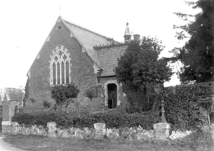 Exterior of St Andrew's church, Shottery.  1900s |  IMAGE LOCATION: (Warwickshire County Record Office)