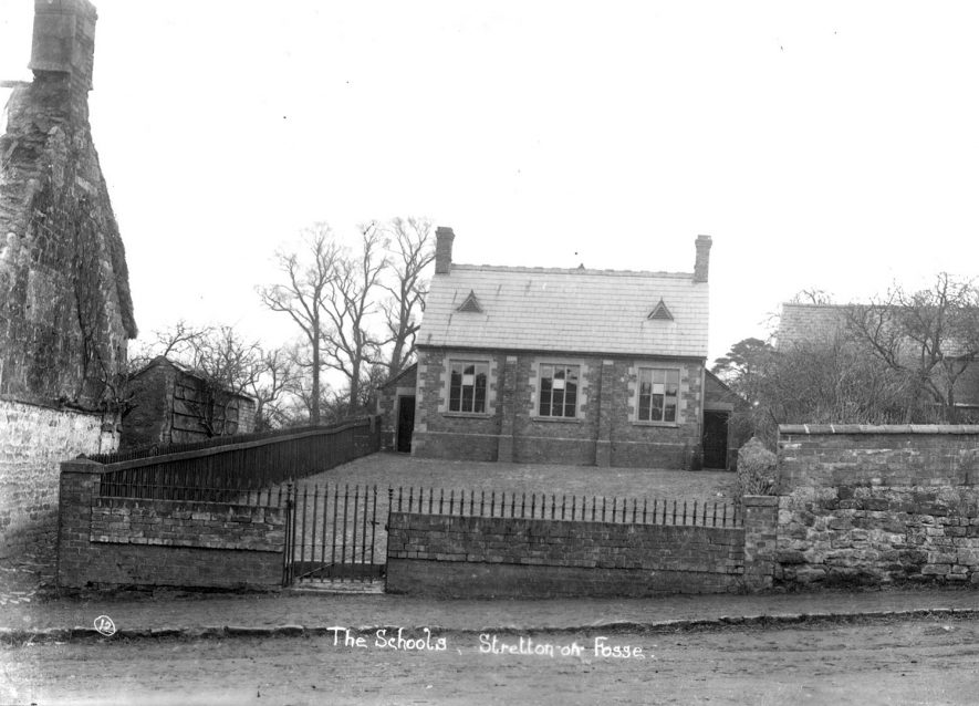 The Schools, Stretton on Fosse.  1900s. |  IMAGE LOCATION: (Warwickshire County Record Office)